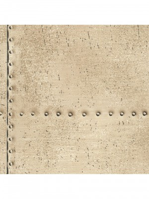 Royal Dutch 7 vlies Riveted beige behang (vliesbehang, beige)