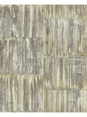 Restored Patina Panels beige/groen behang (vliesbehang, beige)