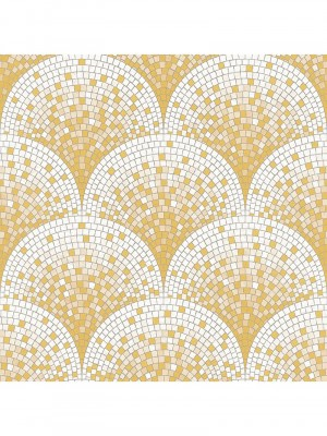 Beaux arts 2 tile effect gold