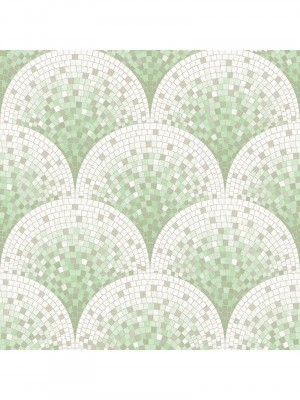 Beaux arts 2 tile effect green