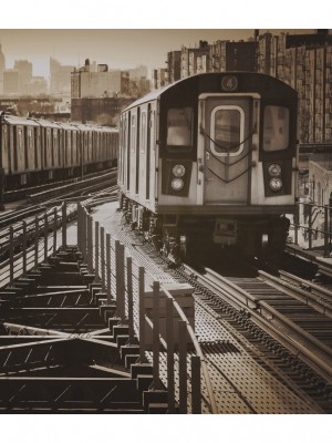 City Love New York sepia, 5-delig fotobehang (270cm x 235,5cm)