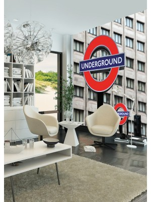 City Love London full color, 6-delig fotobehang (270cm x 279cm, multicolor)