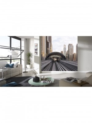City Love Dubai full color, 6-delig fotobehang (270cm x 279cm, multicolor)