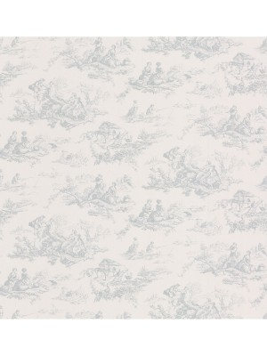 Dollhouse 3 Zaria Toile blauw  behang (vlakvinyl