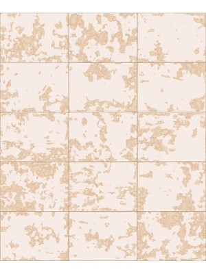 Hexagone tegel beige/goud