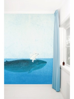 KEK Riding the Whale, 8-delig kinderbehang - multicolor vliesbehang (280cm x 389,6cm per mural)