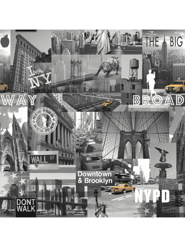 Foto Behang New York.Freestyle New York Behang Papierbehang Van Het Merk Dutch